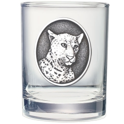 Leopard Double Old Fashioned Glass