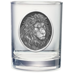 Lion Double Old Fashioned Glass