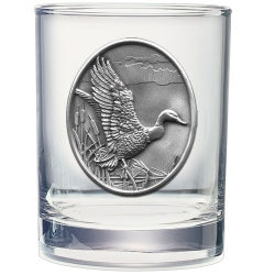Mallard Duck Double Old Fashioned Glass