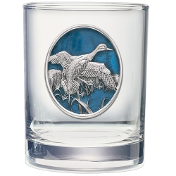 Pintail Duck Double Old Fashioned Glass  - Enameled
