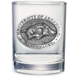 University of Arkansas Double Old Fashioned Glass