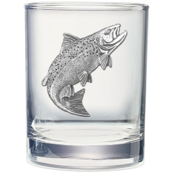 Salmon Double Old Fashioned Glass