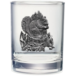 Squirrel Double Old Fashioned Glass