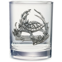 Turtle Double Old Fashioned Glass