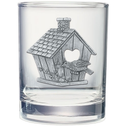 Birdhouse Double Old Fashioned Glass