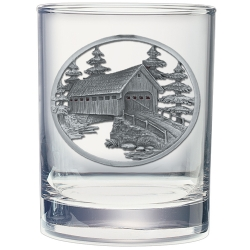 Covered Bridge Double Old Fashioned Glass