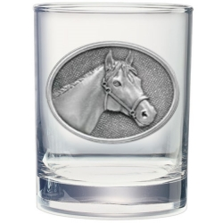 Racehorse Double Old Fashioned Glass