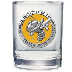 "Georgia Institute of Technology ""Yellow Jackets"" Double Old Fashioned Glass - Enameled"