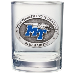 Middle Tennessee State University Double Old Fashioned Glass - Enameled