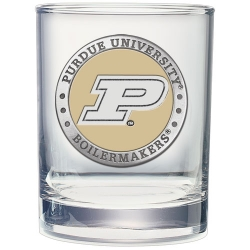 Purdue University Double Old Fashioned Glass - Enameled