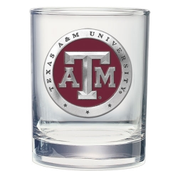 Texas A&M University Double Old Fashioned Glass - Enameled