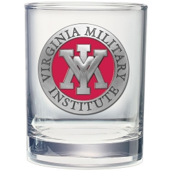 Virginia Military Institute Double Old Fashioned Glass - Enameled