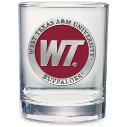 West Texas A&M University Double Old Fashioned Glass - Enameled