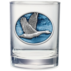 Canadian Goose Double Old Fashioned Glass  - Enameled
