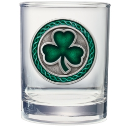 Clover Double Old Fashioned Glass - Enameled