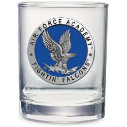 Air Force Academy Double Old Fashioned Glass - Enameled