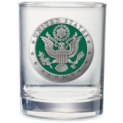 Army Double Old Fashioned Glass - Enameled