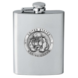 "Marine Corps ""Bulldogs"" Flask"