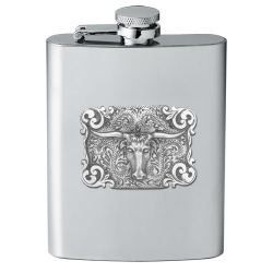 Texas Longhorn Bull Flask