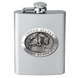 "Naval Academy ""Bill the Goat"" Flask"