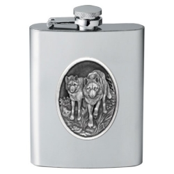 Wolves Flask #2