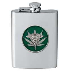 Marijuana #2 Flask - Enameled