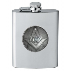 Masonic Square & Compass Flask