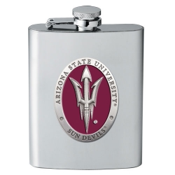 "ASU ""Pitchfork"" Flask - Enameled"