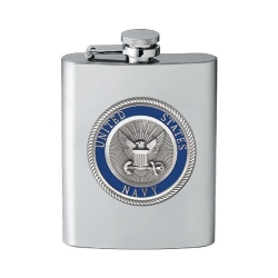 Navy Flask - Enameled