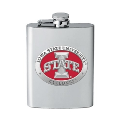 "Iowa State University ""I"" Flask - Enameled"