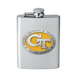 "Georgia Institute of Technology ""GT"" Flask - Enameled"