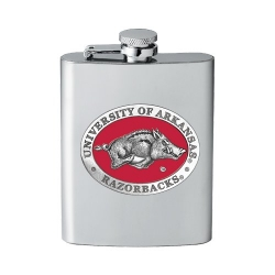 University of Arkansas Flask - Enameled