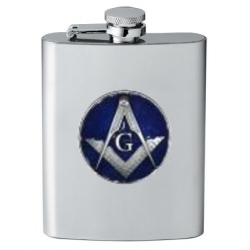 Masonic Square & Compass Flask - Enameled
