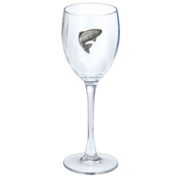 Trout Wine Glass