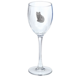 Cat Sitting Wine Glass