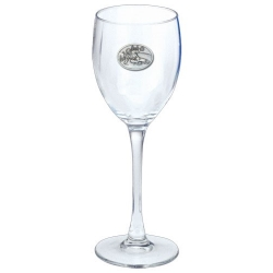 Skier Wine Glass