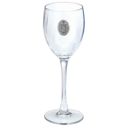 "Naval Academy ""Crest"" Wine Glass"