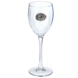 "Naval Academy ""Bill the Goat"" Wine Glass"