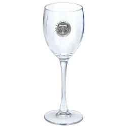Texas A&M University Wine Glass