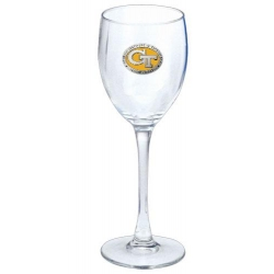 "Georgia Institute of Technology ""GT"" Wine Glass - Enameled"