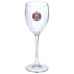 Firefighter Wine Glass - Enameled