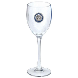 Navy Wine Glass - Enameled