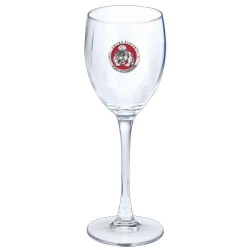 "Marine Corps ""Bulldogs"" Wine Glass - Enameled"