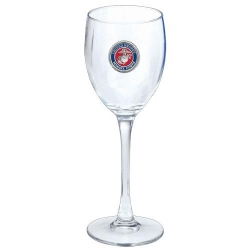 "Marine Corps ""USMC"" Wine Glass - Enameled"