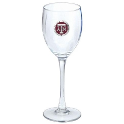Texas A&M University Wine Glass - Enameled