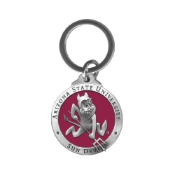 "ASU ""Sparky"" Key Chain - Enameled"