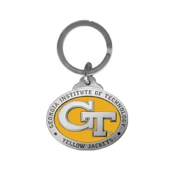 """Georgia Institute of Technology """"GT"""" Key Chain - Enameled"""