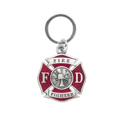 Firefighter Key Chain - Enameled