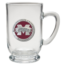 "Mississippi State University ""M"" Clear Coffee Cup - Enameled"