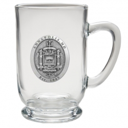"""Naval Academy """"Crest"""" Clear Coffee Cup"""